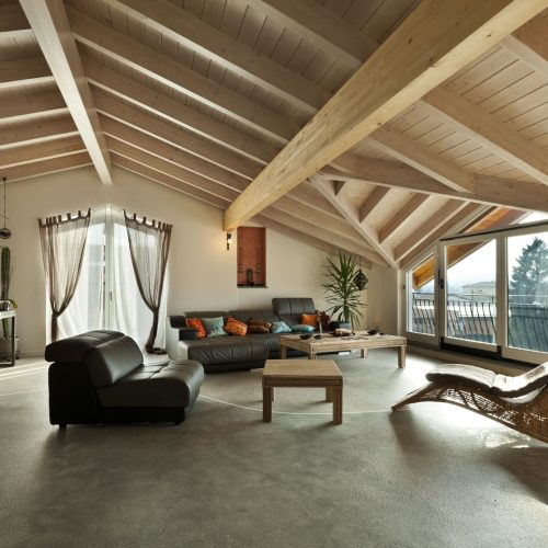 23448715 - interior new loft, ethnic furniture, living room